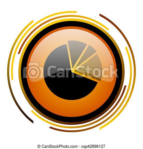 diagram round design orange glossy web icon - csp42896127