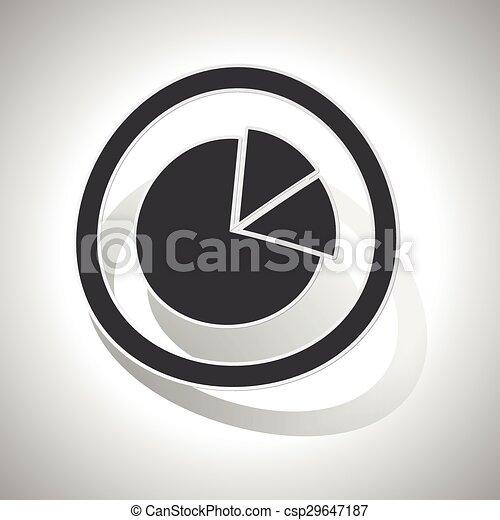 Diagram sign sticker, curved - csp29647187