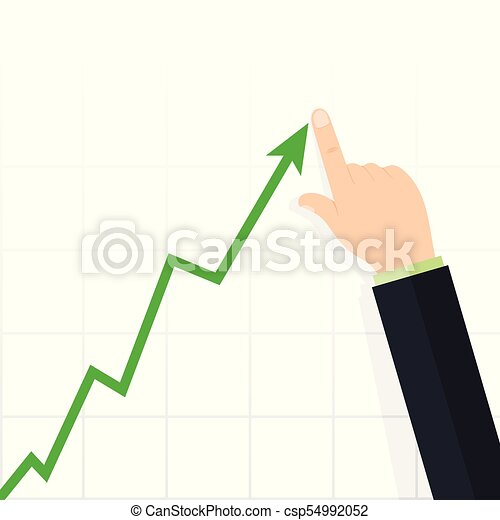 Diagram up. Profit concept, growing business graph - csp54992052