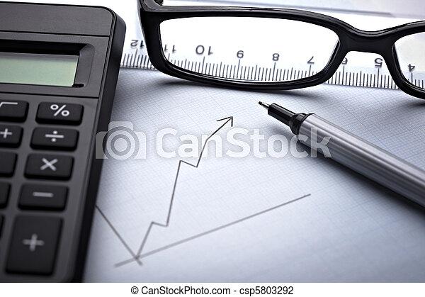 diagram, wykres, finanse, handlowy - csp5803292