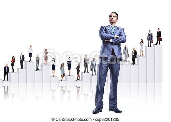 diagrama, comércio pessoas, equipe - csp32201285