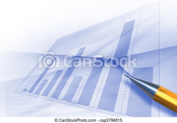 Los gráficos de valores diagrama de computadora - csp3796815