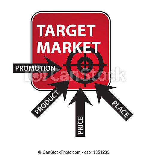 diagrama, mercadotecnia, mezcla - csp11351233