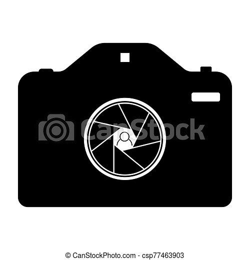 diagrama, negro, cámara, tono - csp77463903