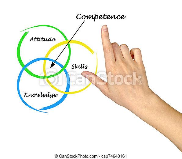 diagrama, presentación, mujer, competencia - csp74640161