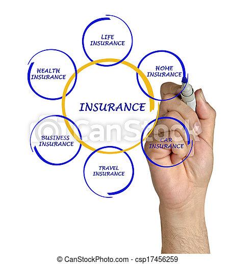 Presentando el diagrama del seguro - csp17456259