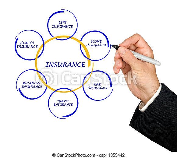 Presentando el diagrama del seguro - csp11355442