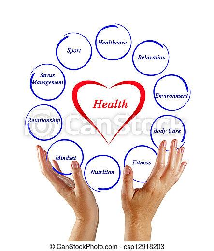 diagrama, saúde - csp12918203