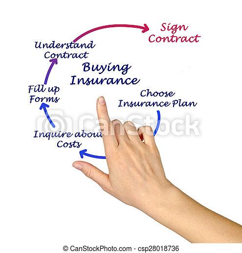 Diagrama de comprar seguros - csp28018736