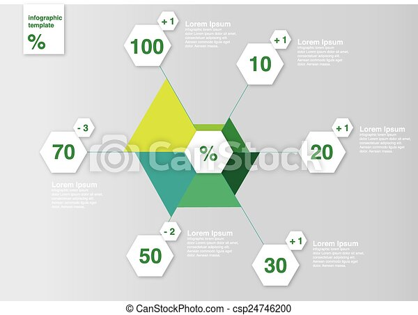 Diagramm infografik template vector. Template for web or print .