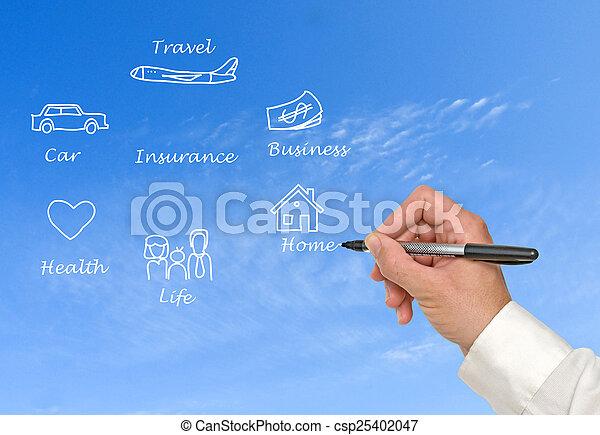 diagramme, assurance - csp25402047