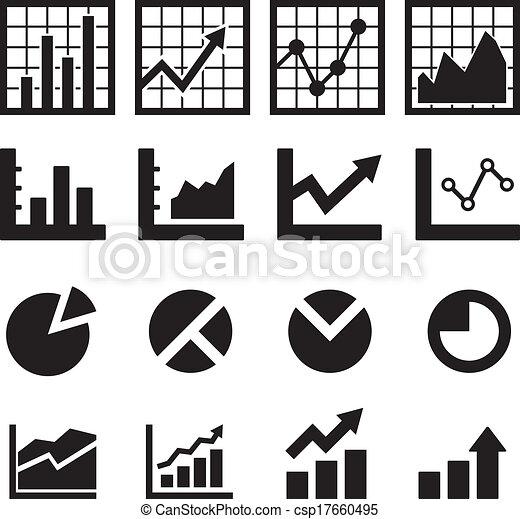 diagramme, diagramme, icône - csp17660495