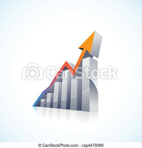 diagramme gantt, vecteur, 3d, marché, stockage - csp4479389