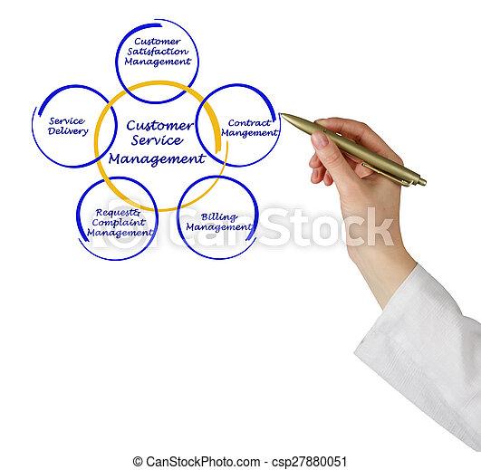 diagramme, gestion, service clientèle - csp27880051