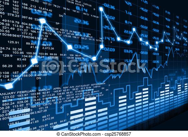 diagramme, marché, stockage - csp25768857