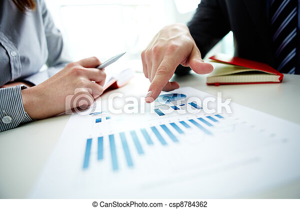 diagramme, pointage - csp8784362
