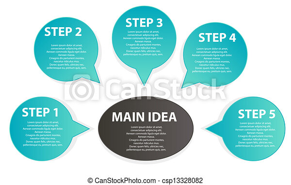 diagramme, présentation, business - csp13328082