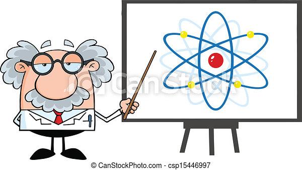 diagramme, prof, atome - csp15446997