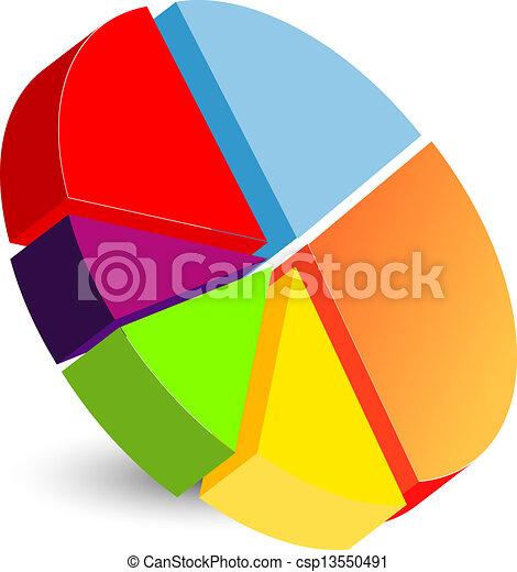 diagramme, tarte, icône - csp13550491
