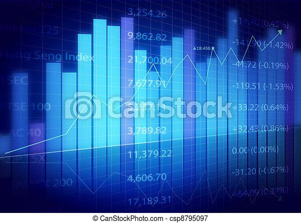 diagrammen, markt, liggen - csp8795097