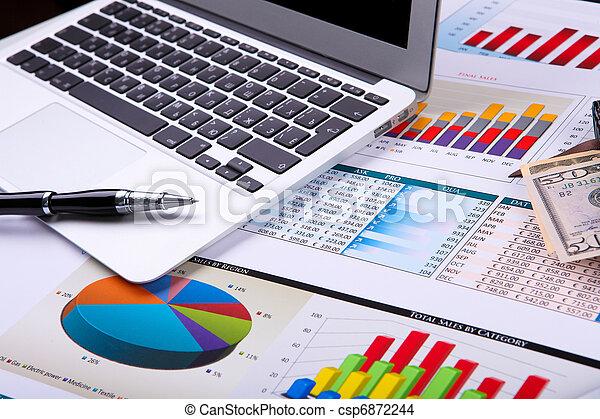diagrammen, tafel., grafieken, zakelijk - csp6872244