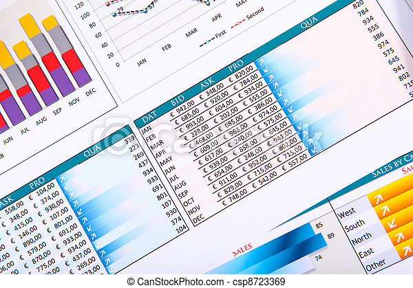 diagrammen, tafel., grafieken, zakelijk - csp8723369