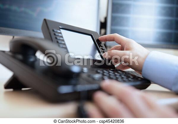 Dialing telephone keypad - csp45420836