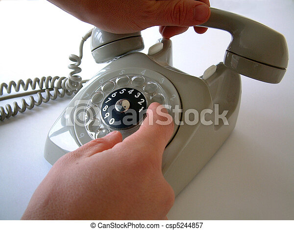 Dialling with vintage telephone - csp5244857