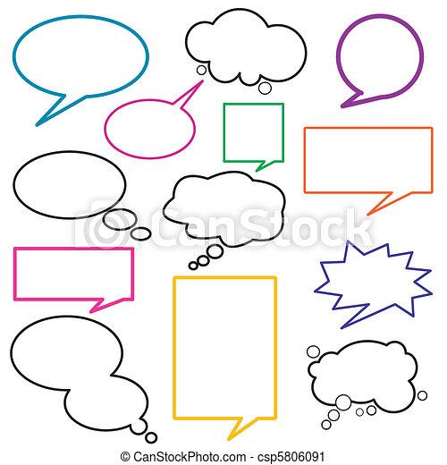 Dialog, balloon, message - csp5806091
