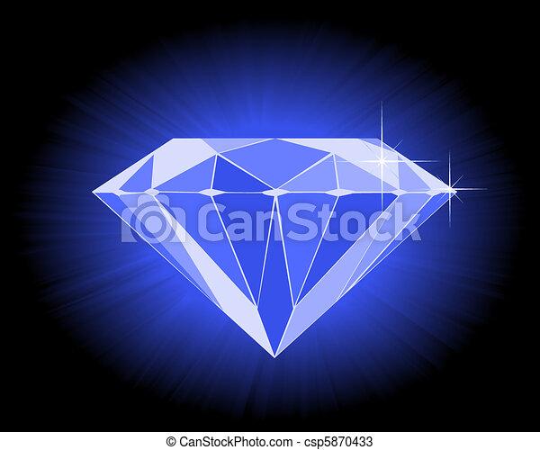Diamant bleu facett diamant bleu noir facett fond - Diamant dessin ...