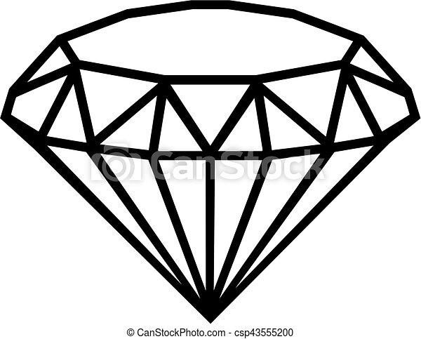 Diamant contour - Diamant dessin ...