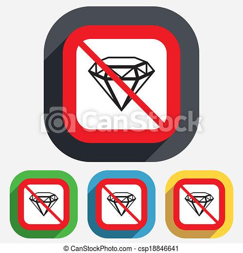 Diamant schmuck nein symbol zeichen icon stone for Meine wohnung click design download