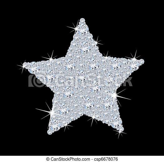 diamant, stern - csp6678076