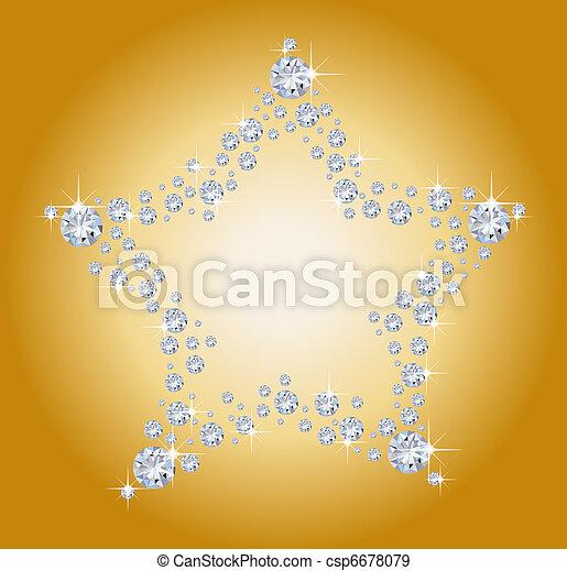 diamant, stjärna - csp6678079