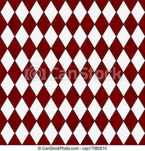 Roter und weißer Diamant-Formstoff Hintergrund - csp17080810