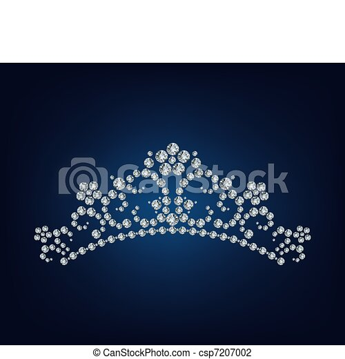 diamant, tiara - csp7207002