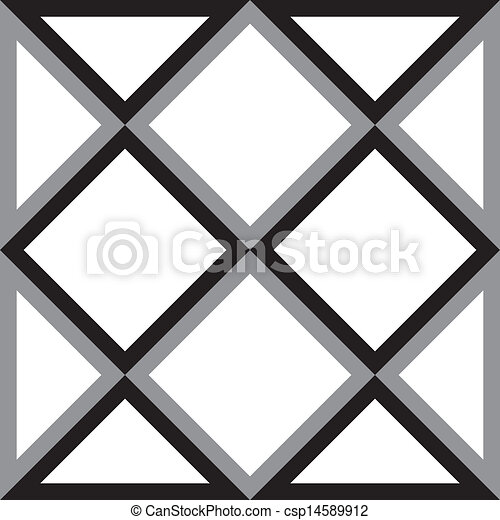 diamant, trojúhelník, abstraktní, čtverec, grafické pozadí, trydimensional, iluze - csp14589912