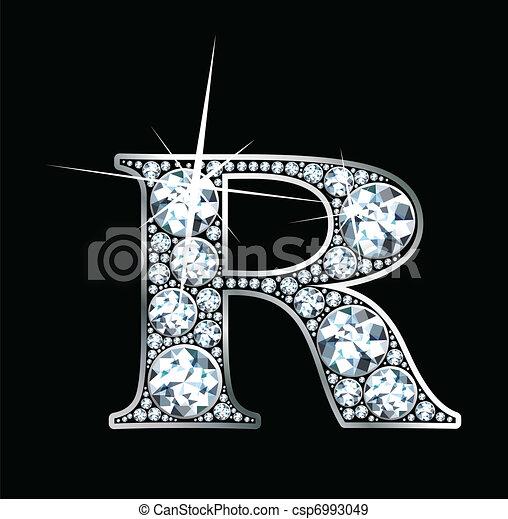 """diamant, vecteur, """"r"""" - csp6993049"""
