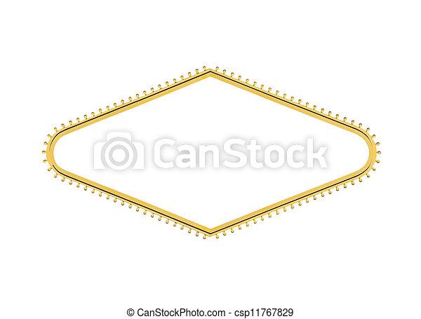 Las Vegas bienvenidos signo bombilla de luz de diamante cortado - csp11767829