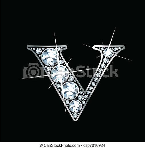 diamante, vettore, -, (eps), v - csp7016924