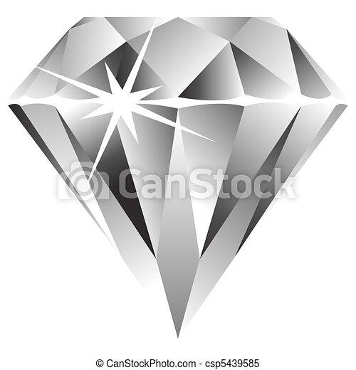 diamond against white - csp5439585