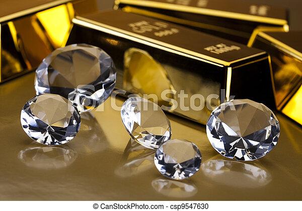 Diamond and gold - csp9547630