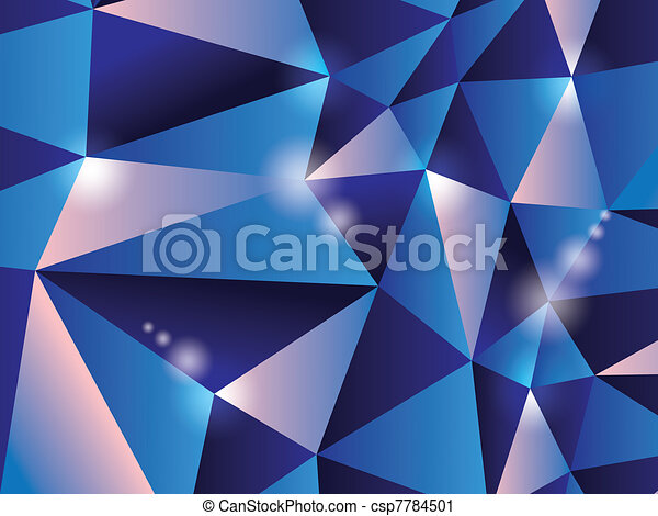 Line Drawing Diamond : Diamond background. 3d polygon triangle abstract background
