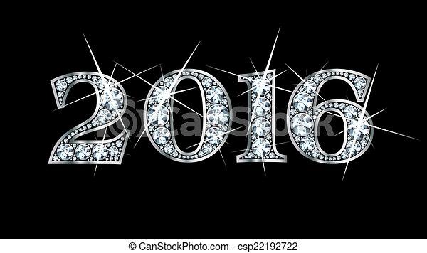 Diamond Bling 2016 - csp22192722