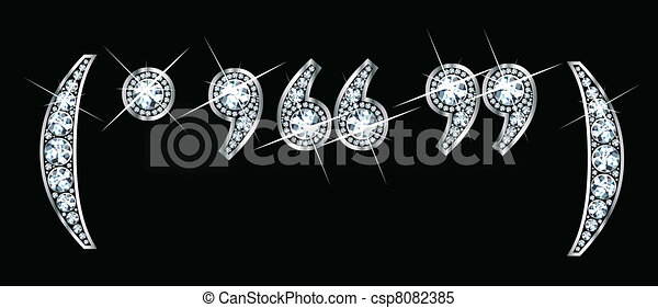 Diamond Bling Punctuation - csp8082385