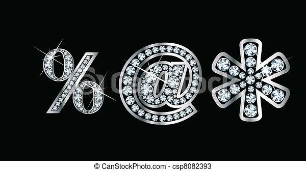 Diamond Bling Punctuation - csp8082393