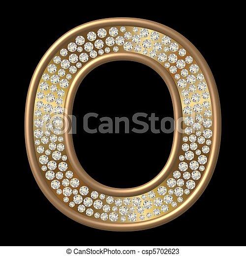 Diamond Character O - csp5702623