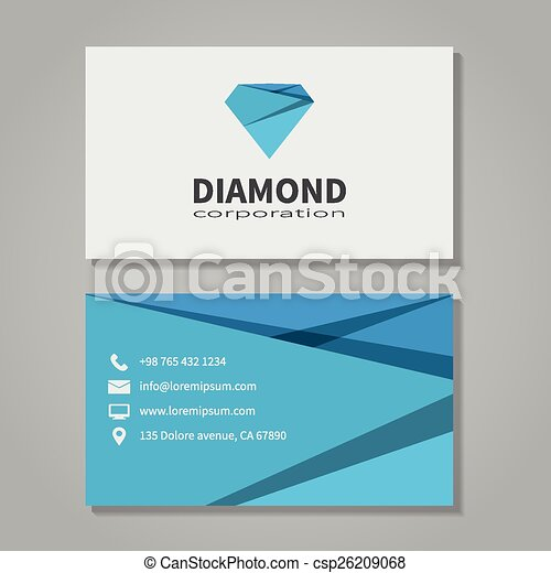 Diamond corporation business card template in modern style office diamond corporation business card template csp26209068 cheaphphosting Image collections
