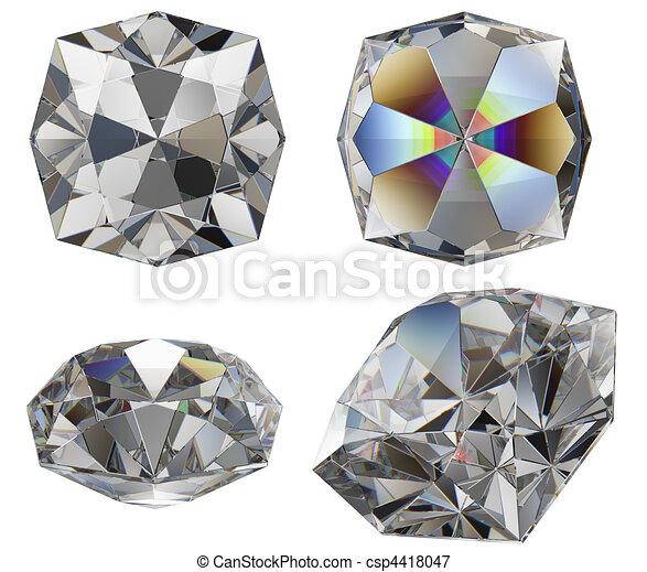 diamond cut gem isolated - csp4418047