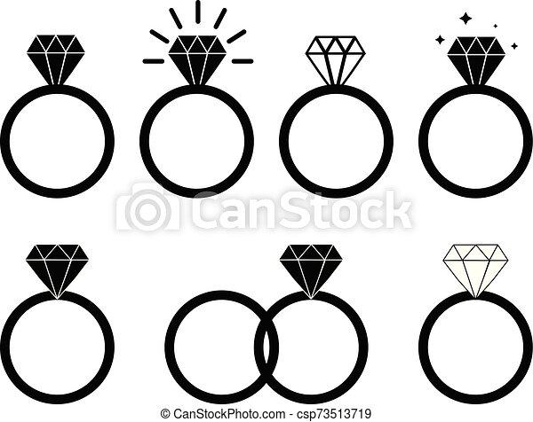 Diamond Engagement Ring On White Background Diamond Ring Icon For Your Web Site Design Logo App Ui Wedding Ring Symbol